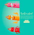 back to school vertical background with pencils vector image vector image