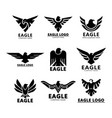black eagles silhouette for company branding vector image
