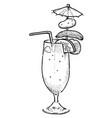 cartoon image of weird cocktail vector image vector image