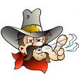 cartoon of an cowboy vector image vector image