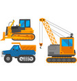caterpillar vehicle tractor vector image