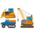 Caterpillar vehicle tractor vector image
