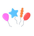 collection of balloons for birthday vector image