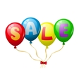 Colorful balloons sale promotion vector image vector image
