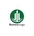 column icon logo template design vector image vector image