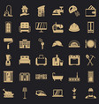 comfortable place icons set simple style vector image vector image