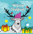 creative card for christmas vector image vector image