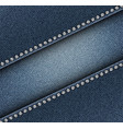 diagonal jeans design with spangles vector image vector image