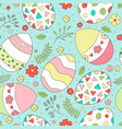 easter seamless pattern with spring flowers vector image vector image