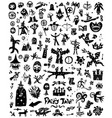 fairy tale history - doodles silhouettes sign vector image vector image