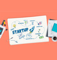 flat design concept for startup vector image
