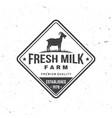 fresh natural milk badge logo typography vector image