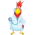 Funny Parrot Doctor vector image vector image