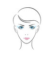 girl head eye ear hair lips neck vector image vector image