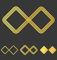 Golden line infinity logo design set vector image vector image