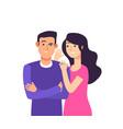 gossiping woman speaking rumor gossip whisper vector image