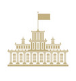 government house with a flag on the roof vector image vector image