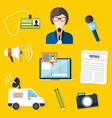 Journalism press news reporter Set of journalism vector image vector image