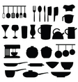 kitchen and cookery vector image vector image