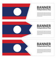 laos flag banners collection independence day vector image vector image