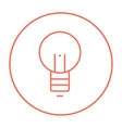 Lightbulb line icon vector image