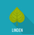 linden leaf icon flat style vector image vector image