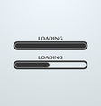 Loading uploading downloading status bar icon vector image vector image