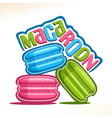 logo for macaroon vector image