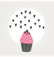 lovely beautiful yummy cartoon cupcake vector image vector image