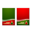 merry christmas document templates vector image vector image