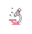 microscope in flat style icon vector image vector image