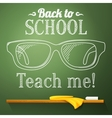 Nerd glasses on the chalkboard with back to school vector image vector image