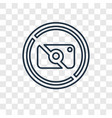 no photo concept linear icon isolated on vector image