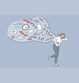 overloading stress overwork job concept vector image vector image