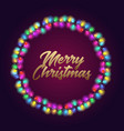 poster with merry christmas text vector image vector image
