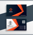 professional geometric business card mockup vector image vector image