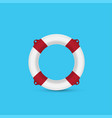 red lifebuoy on a blue background vector image