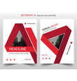 red triangle label annual report brochure flyer vector image vector image