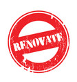 renovate rubber stamp vector image vector image