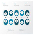 repair outline icons set collection of digging vector image vector image