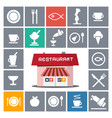 restaurant house with flat icons vector image vector image