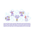 risk management concept line icons with text vector image vector image