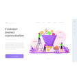sales funnel management landing page template vector image vector image