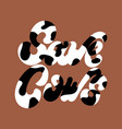 save cows hand drawn lettering isolated vector image