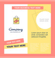 shopping bag company brochure template busienss vector image vector image