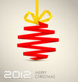 Simple christmas decoration vector image vector image