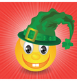 smile in a green hat vector image vector image