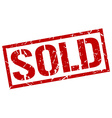 sold stamp vector image vector image