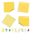 sticky note paper vector image vector image