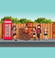street teenager in town vector image vector image